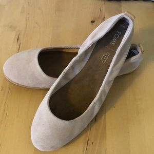 Tom Flats, Light Pink Suede, Size 10